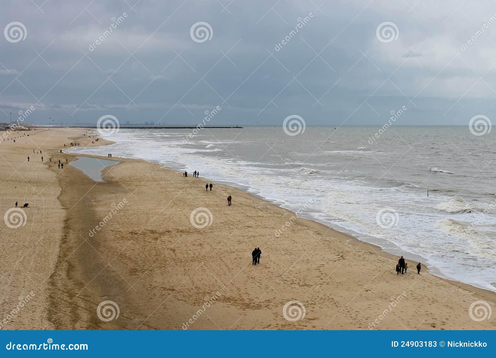 Jesień plażowy Hague