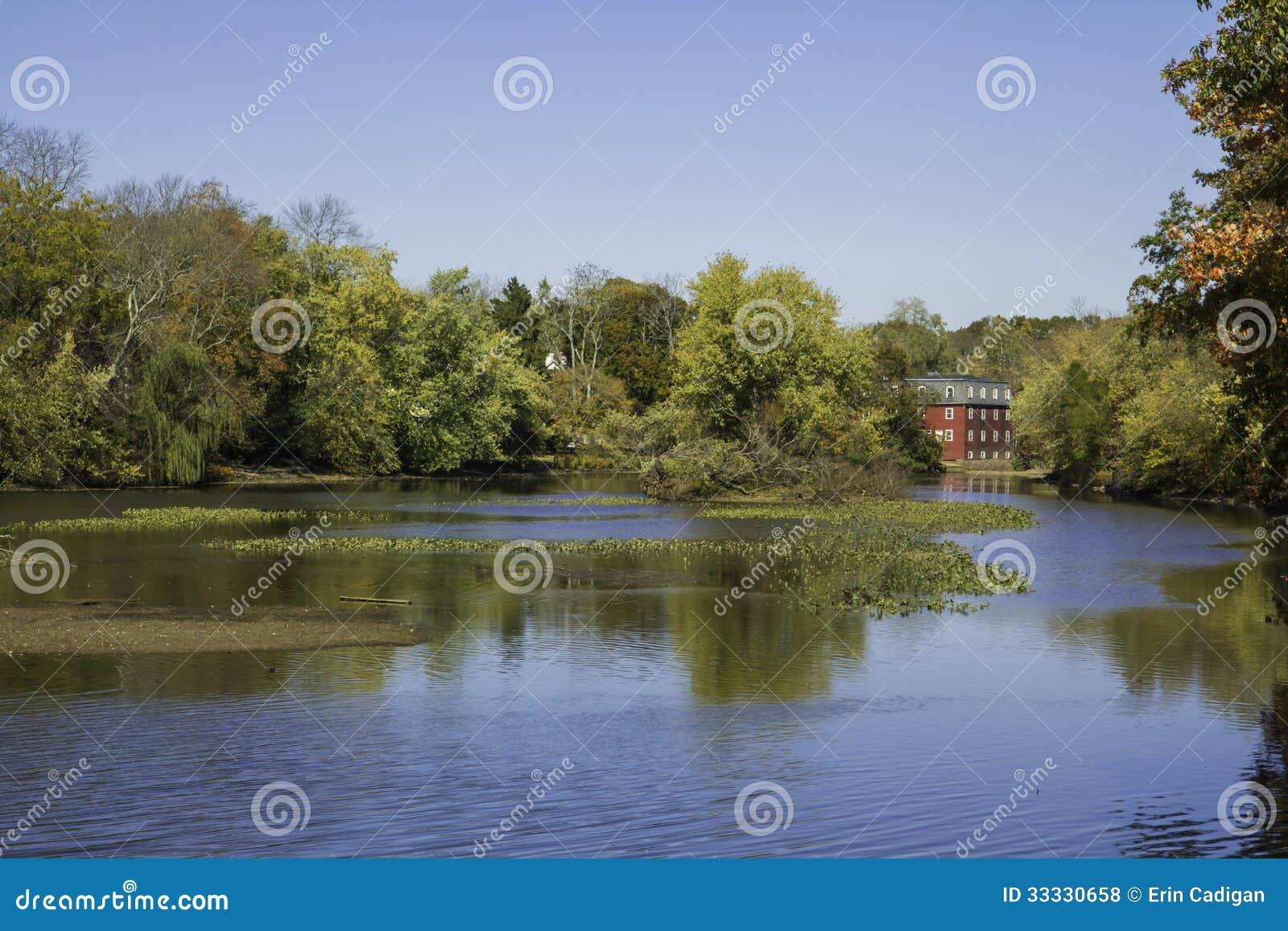 Jesień przy Delaware Horyzontalnymi Raritan kanałem i -