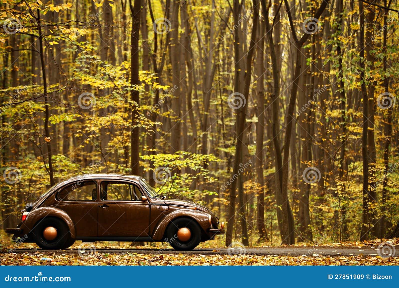 Jesień rocznika samochód