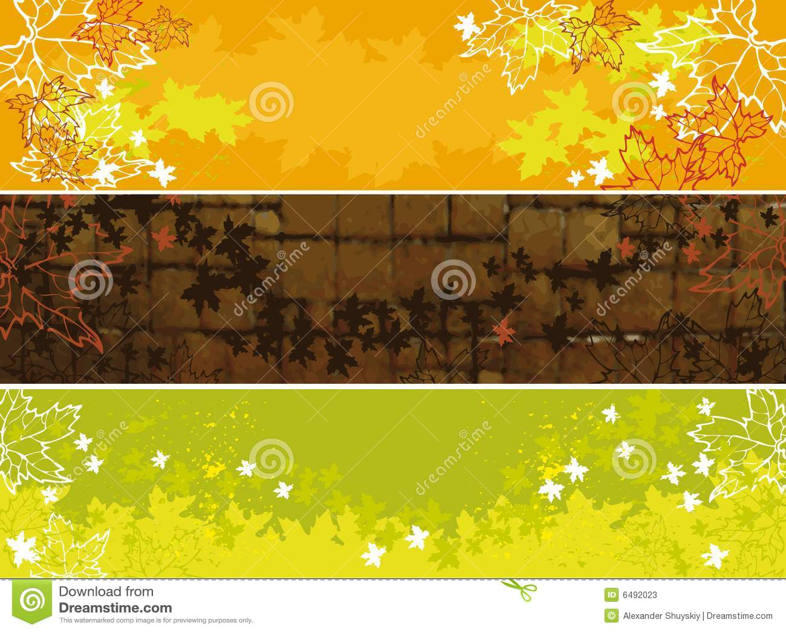 Jesień sztandary ustawiający