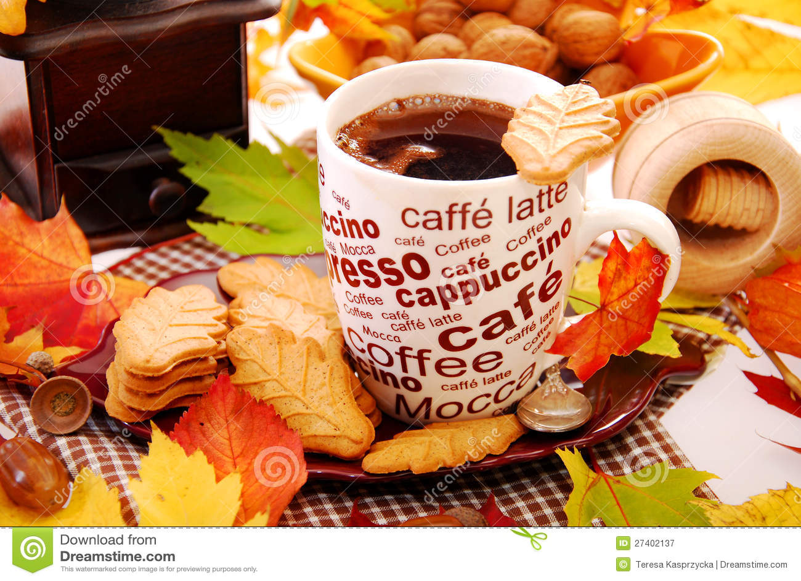 Чашка кофе осень картинки