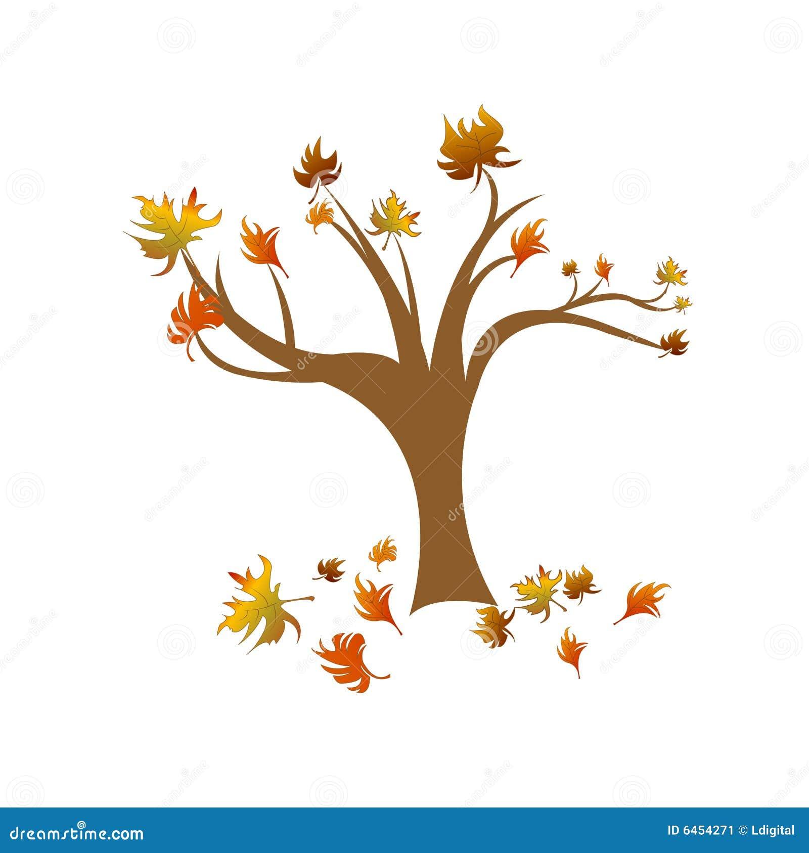 Jesienią abstrakcyjne drzewa wektora
