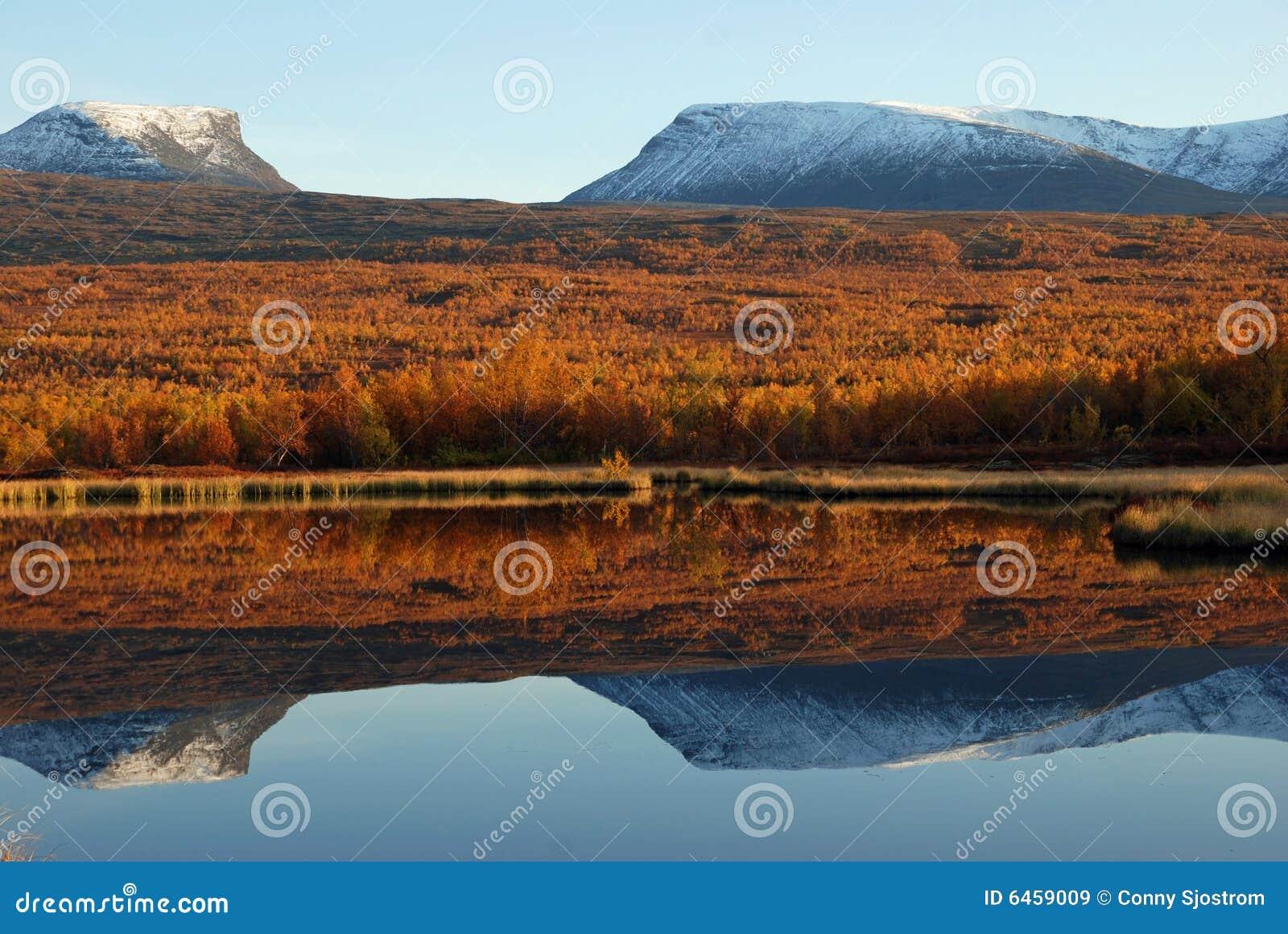 Jesienią otoczenia jeziora.
