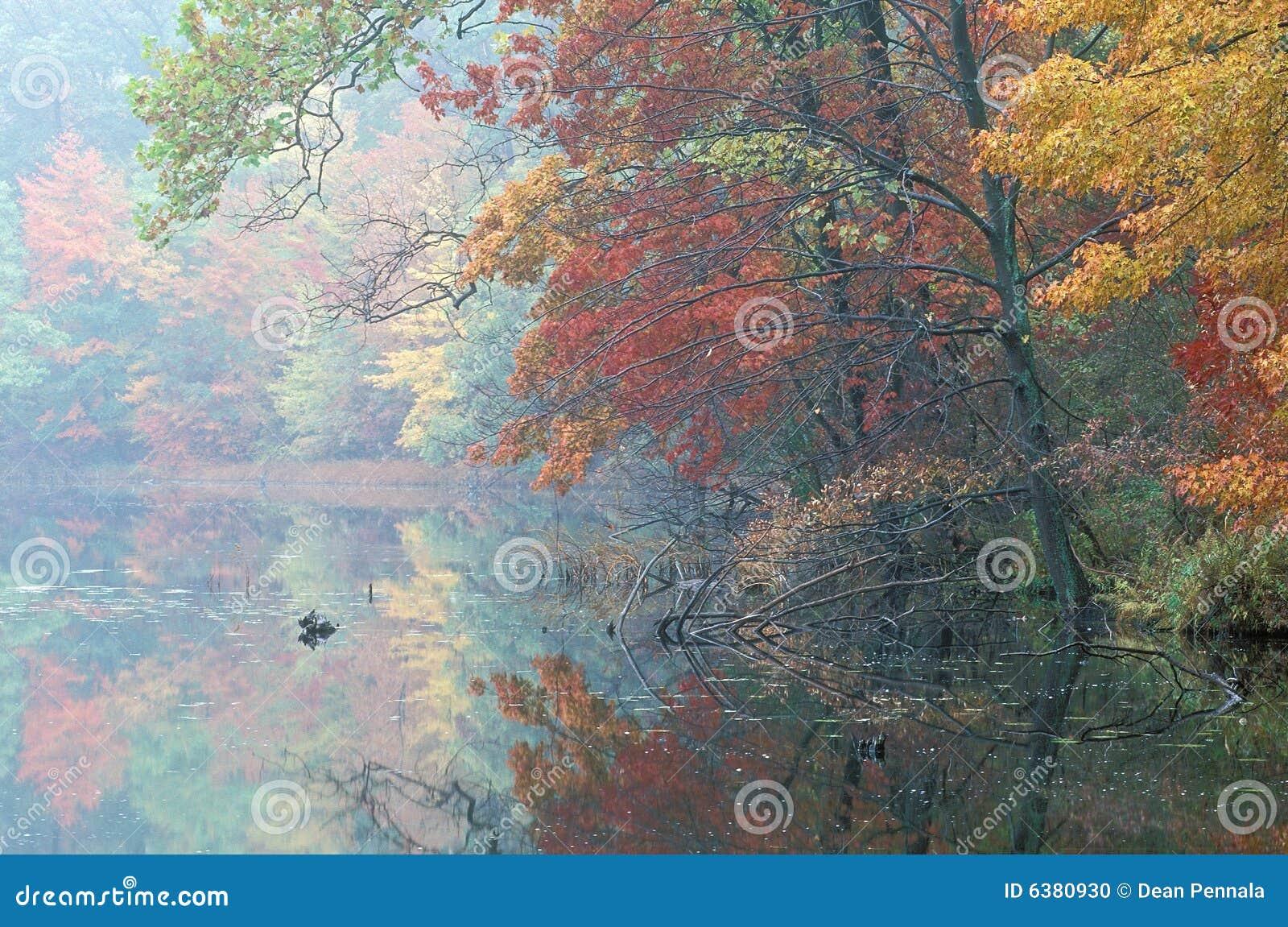 Jesienią sali jeziora