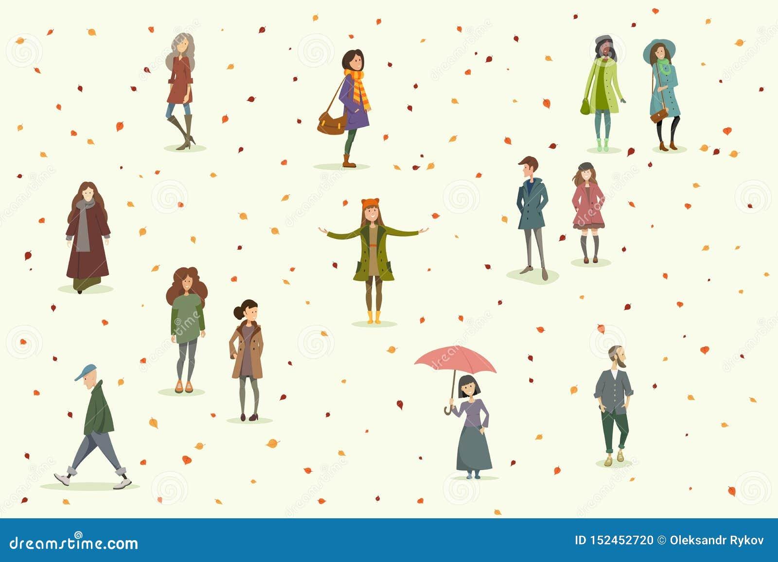 Jesieni ludzie Set