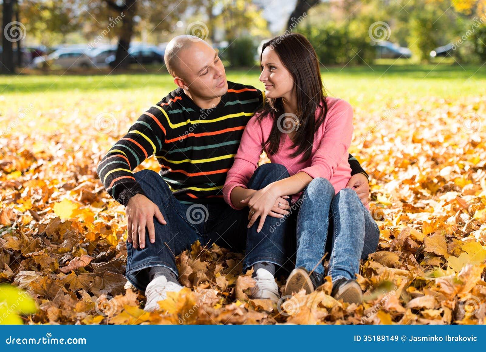 Jesieni pary portrety