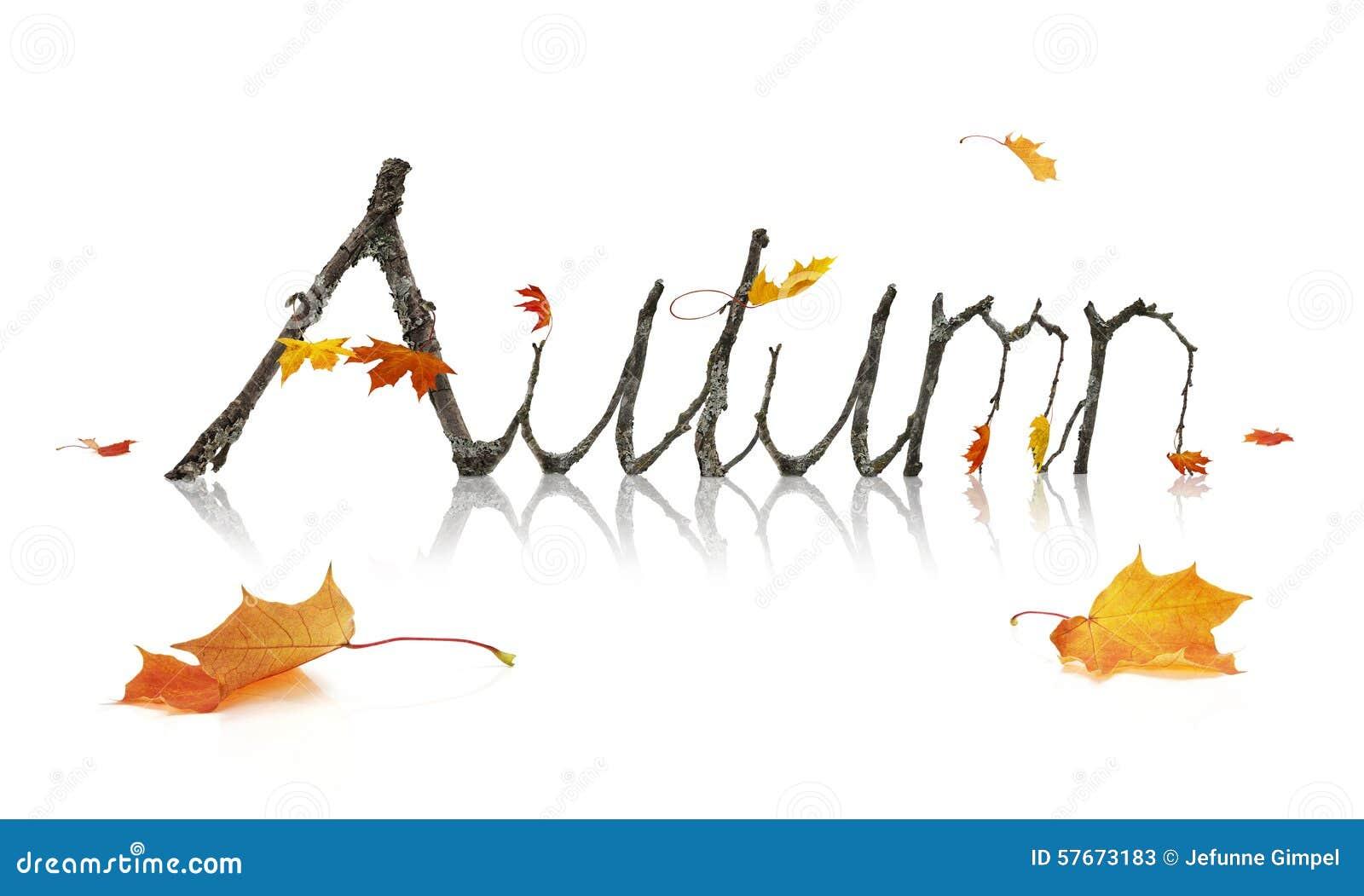 Jesieni słowo Robić od Klonowych gałąź