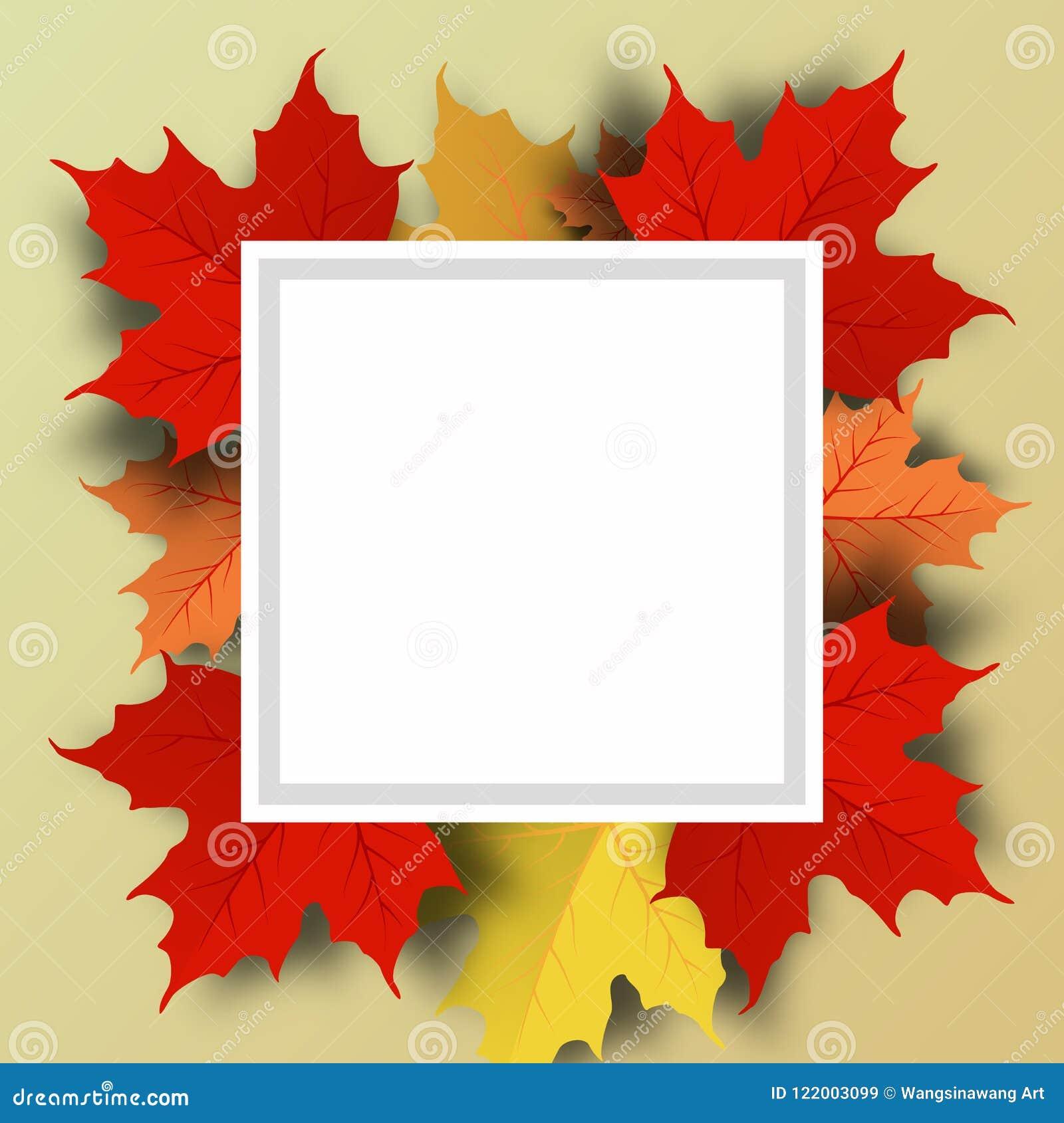Jesieni sprzedaży tła układ dekoruje z liśćmi dla robić zakupy sprzedaż
