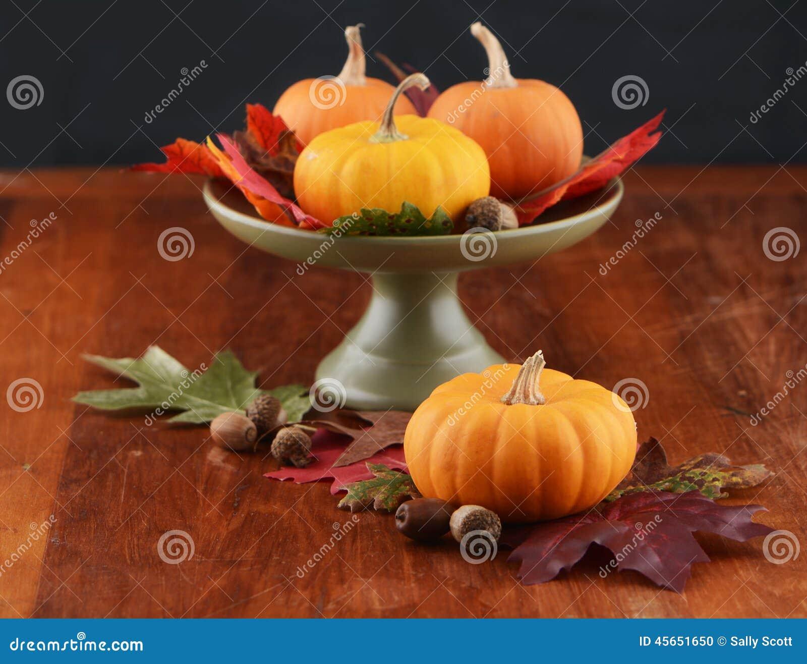 Jesieni stołowy centerpiece