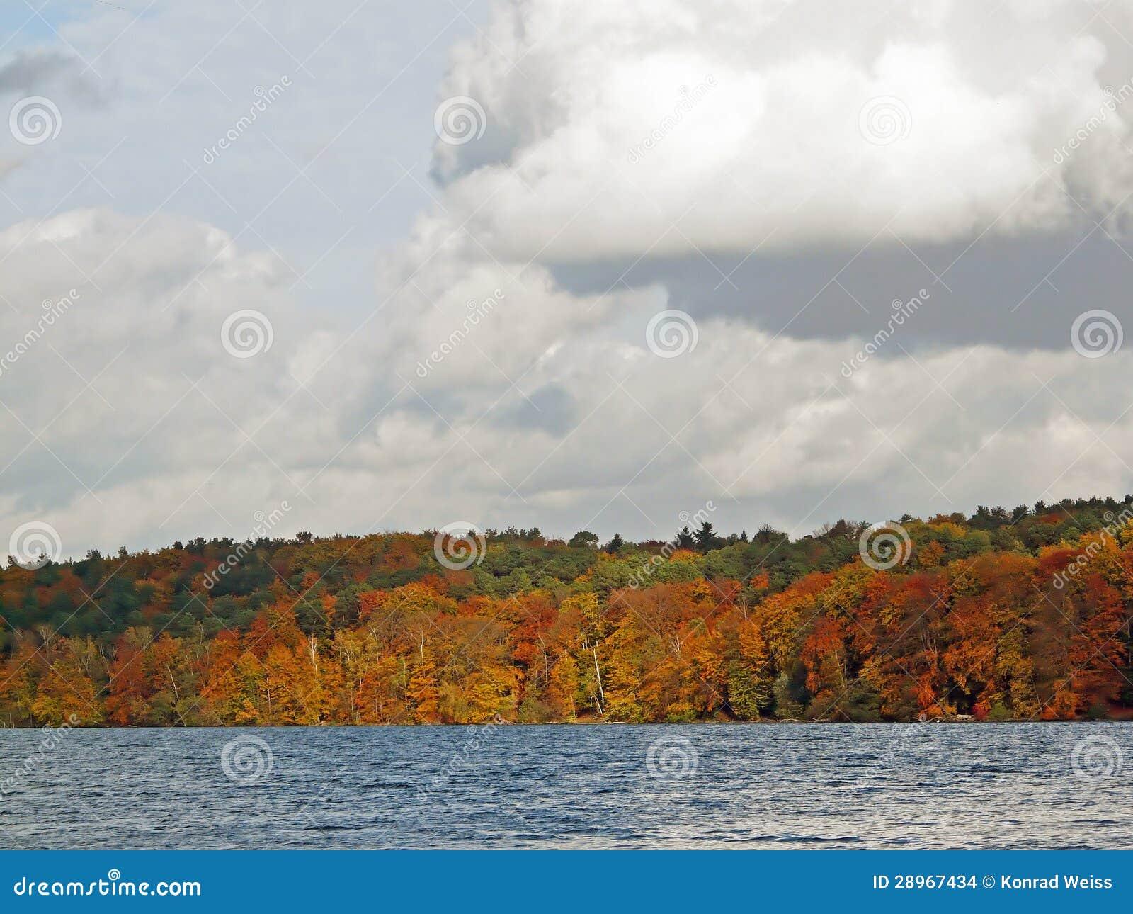 Jesienni colours przy Werbellin jeziorną północą Berlin
