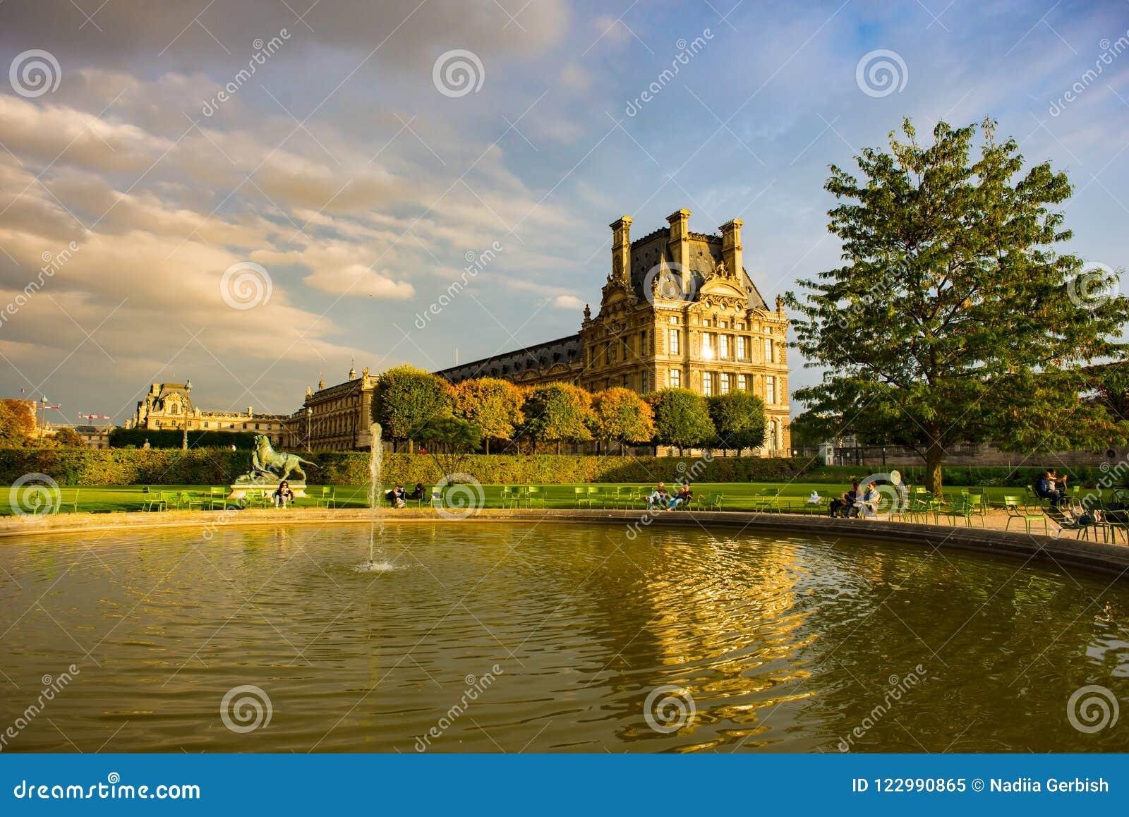 Jesienny Paryż, Tuileries ogród -