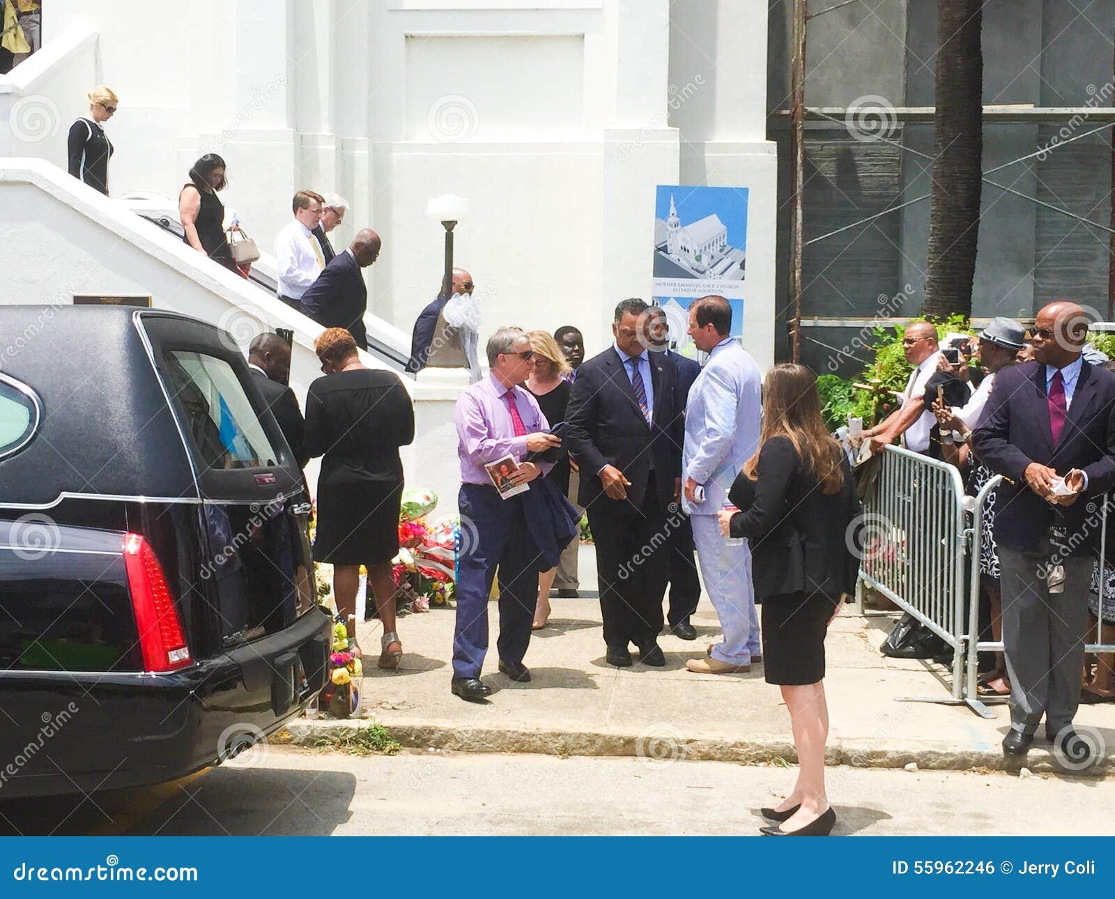 Jesse Jackson reverendo al funerale per Cynthia Hurd