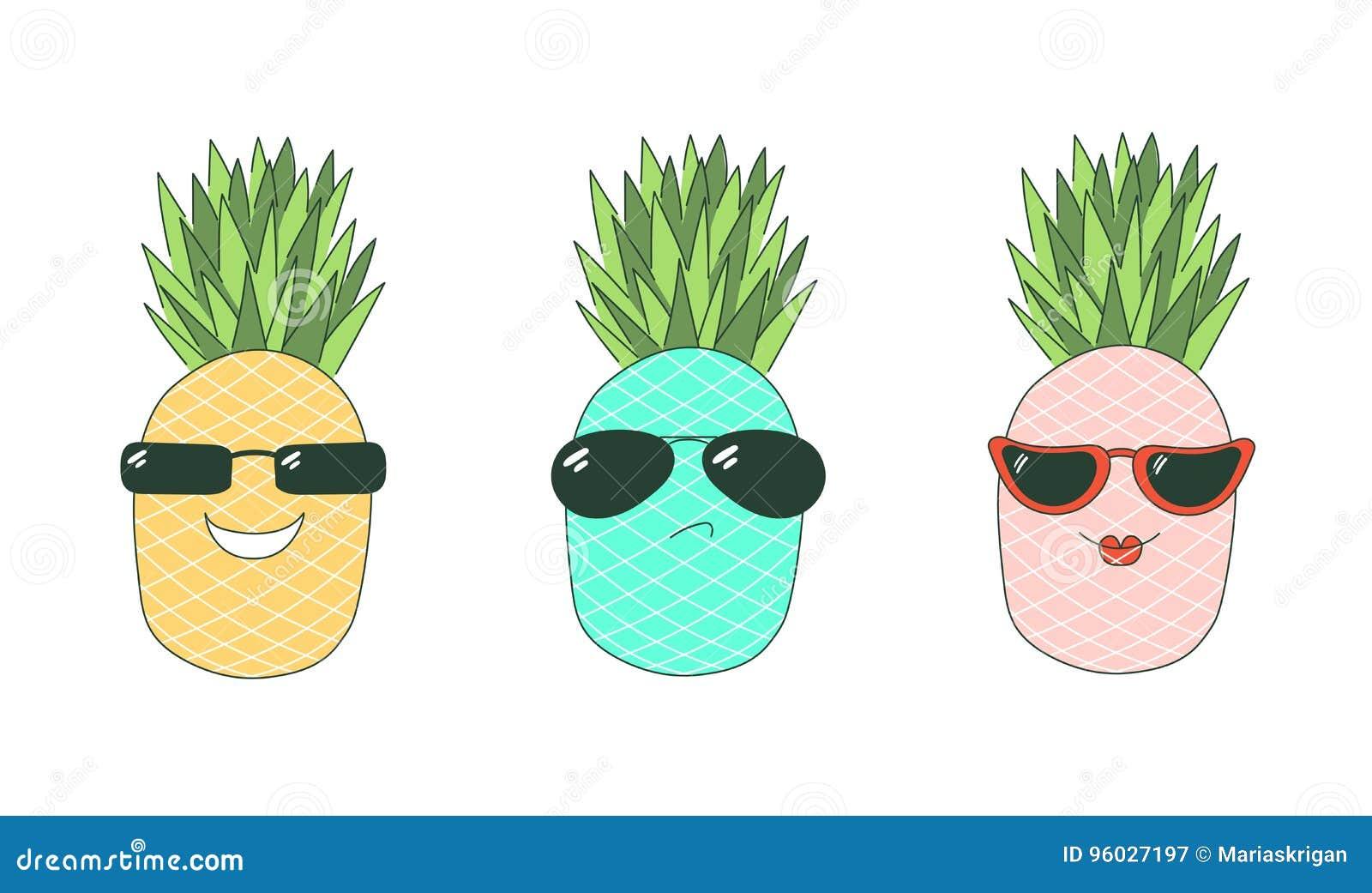 Jest chłodno majcherów ananasami