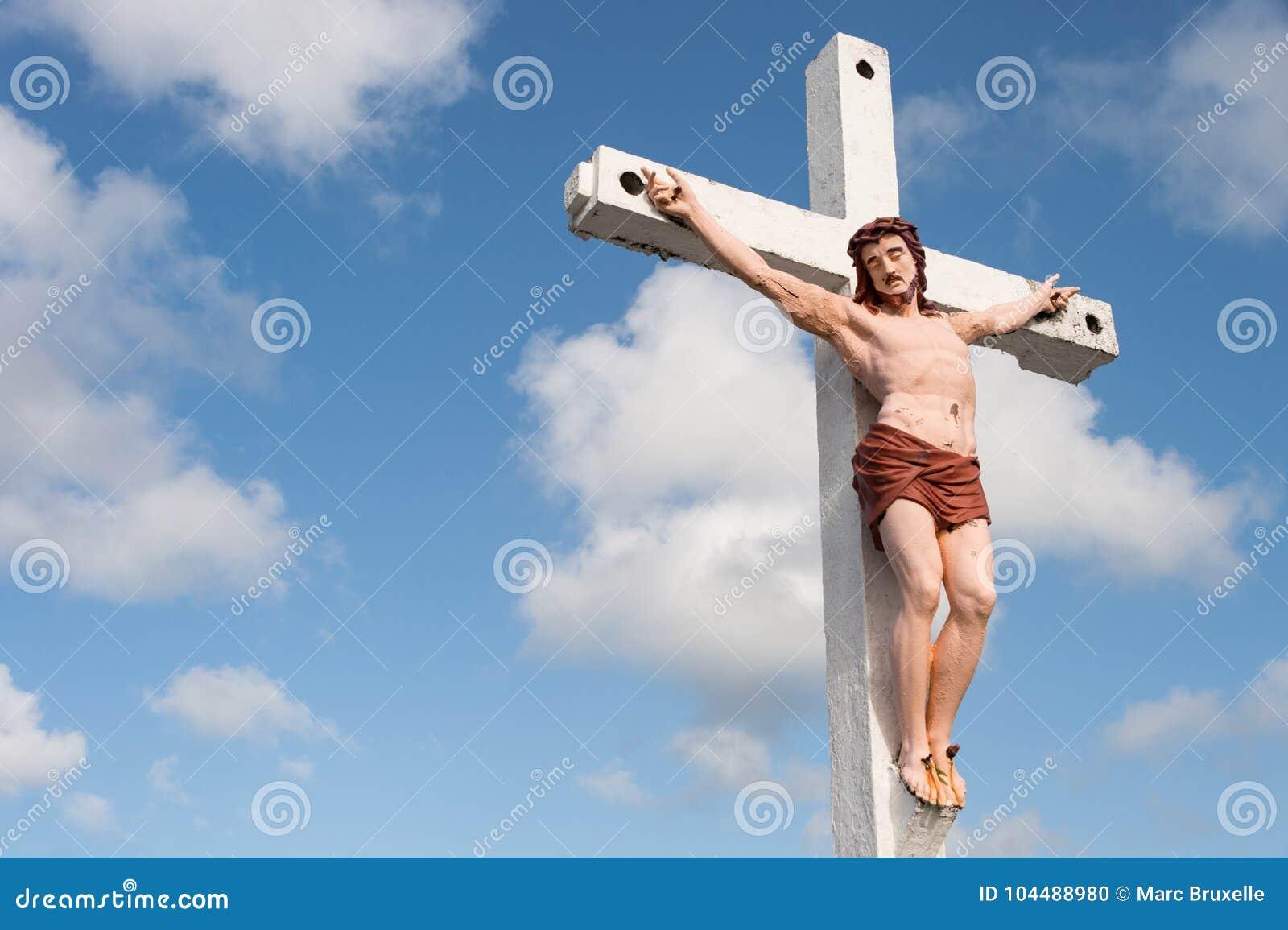 Jesucristo En La Cruz Foto De Archivo Imagen De Religioso 104488980