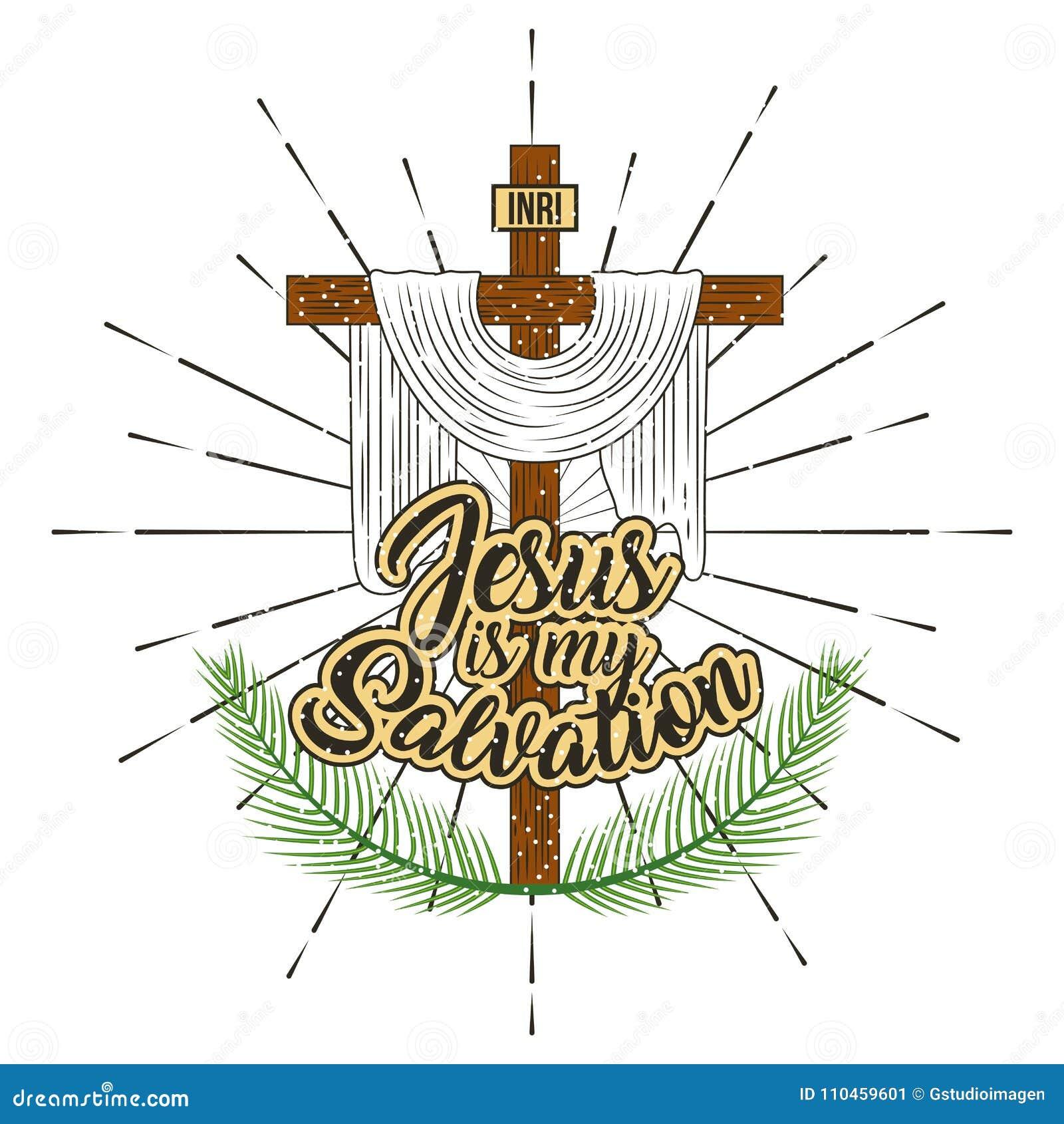 Jesus är mitt räddningkors, och filialer gömma i handflatan