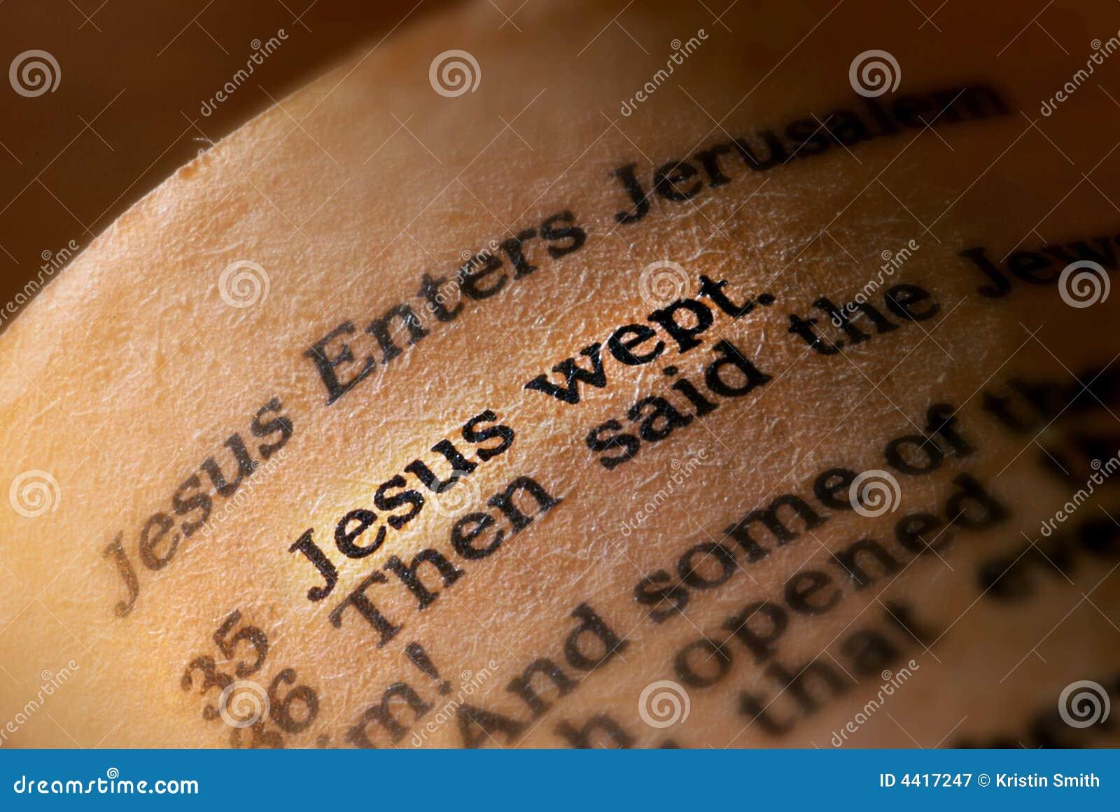 Jesus заплакал