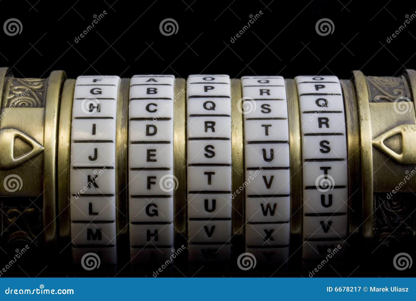 Jesus als wachtwoord aan de doos van het combinatieraadsel