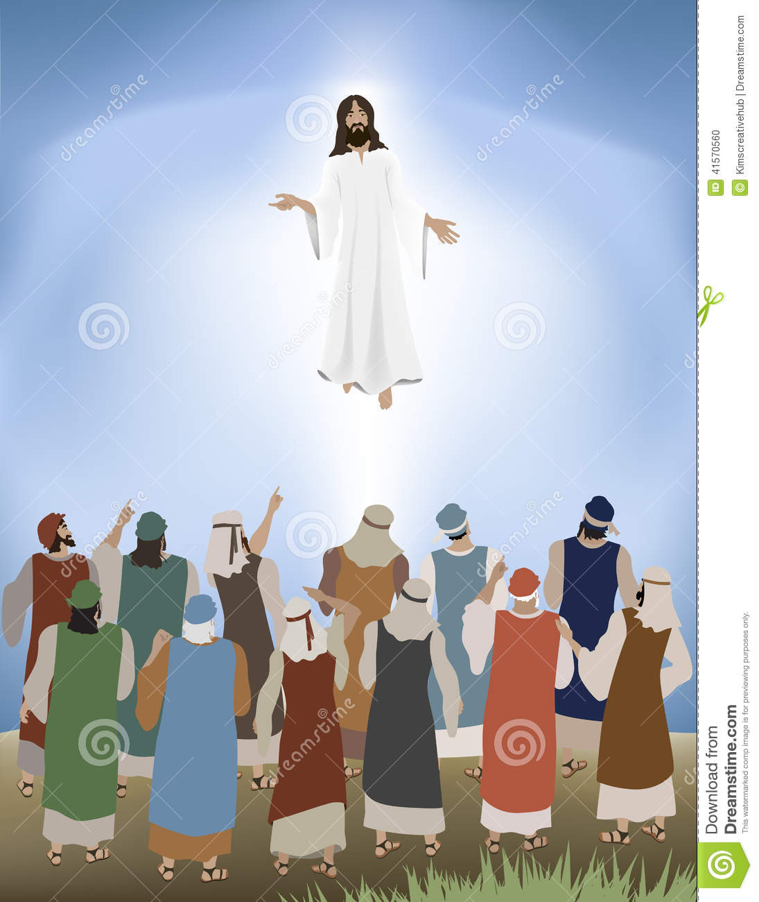 clipart of jesus ascending to heaven - photo #17