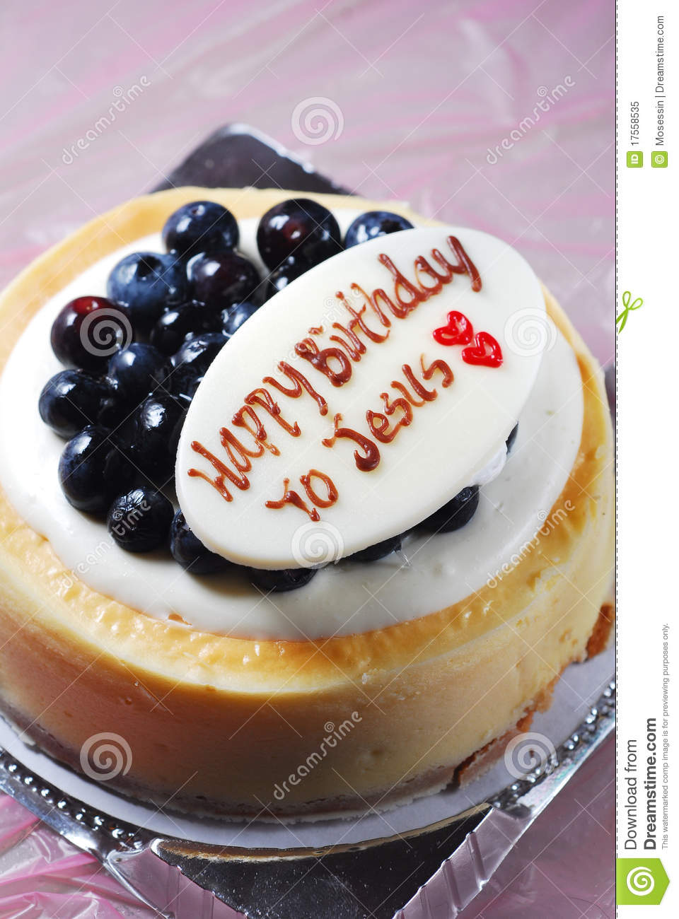 Jesus Birthday Cake Stock Image Of Blueberry