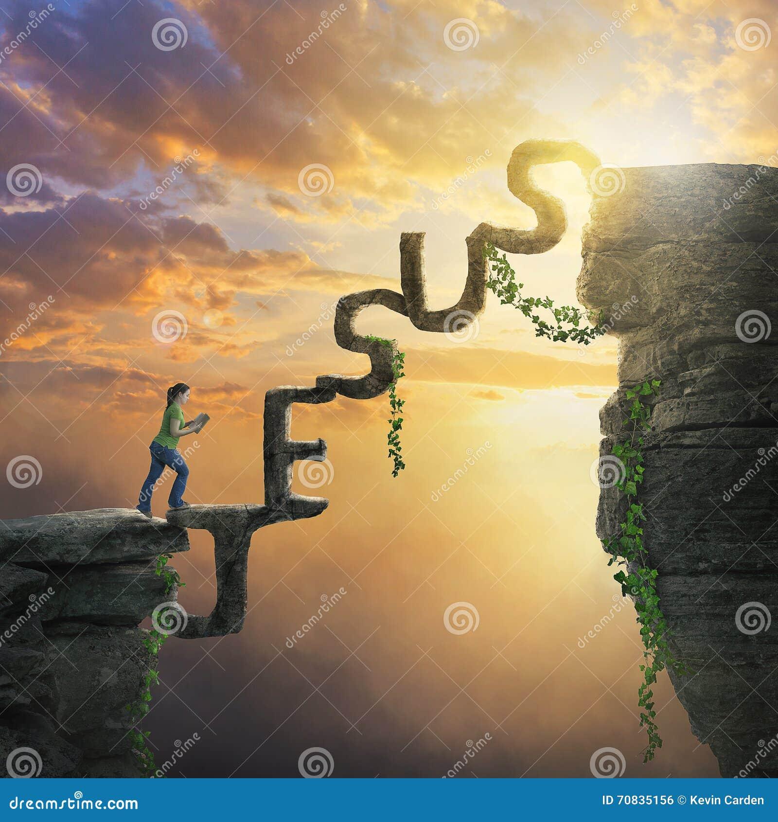 Jesus bridge between cliffs