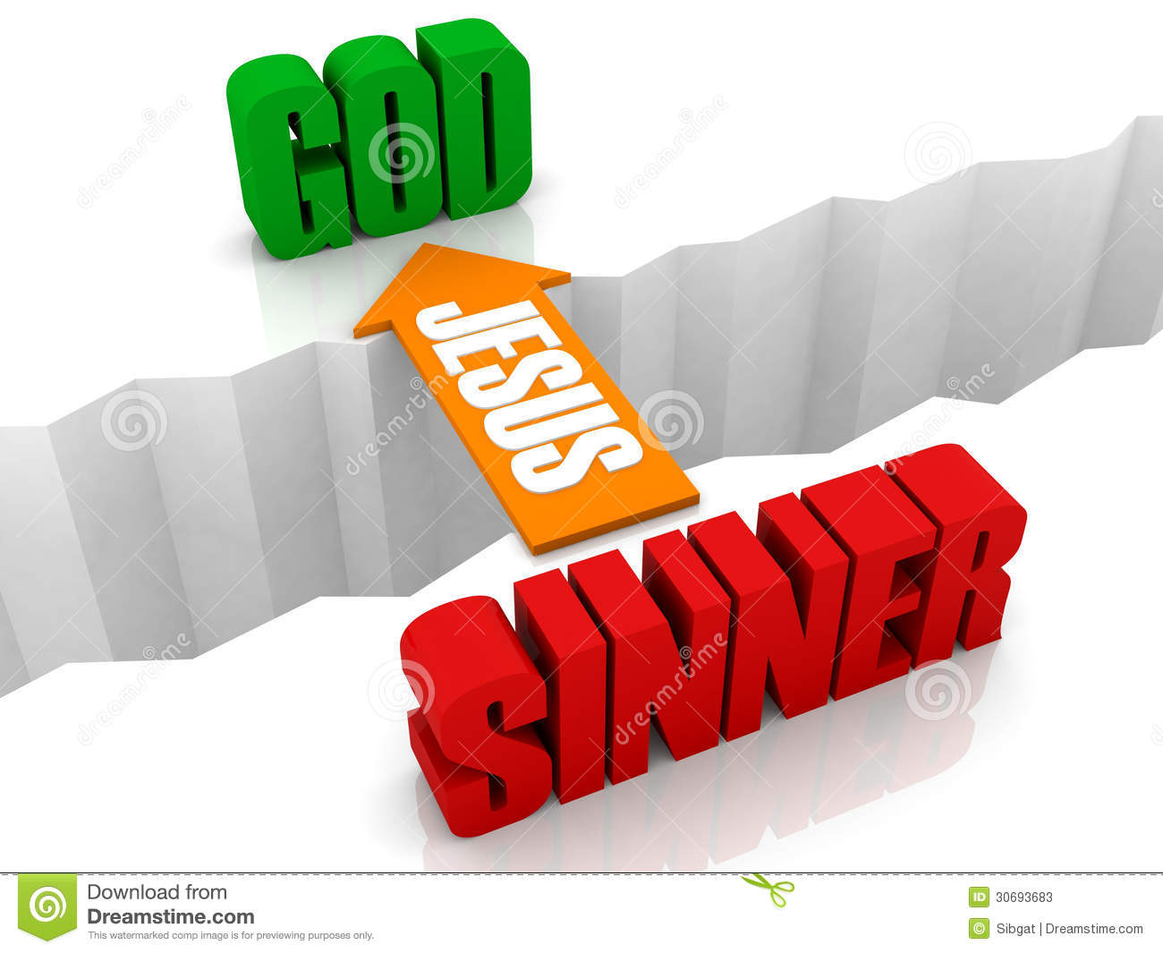 Jesus Is The Bridge From SINNER To GOD. Stock Photos - Image: 30693683