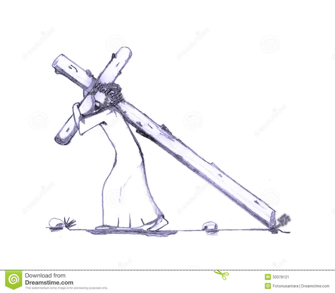 free clip art jesus carrying cross - photo #25