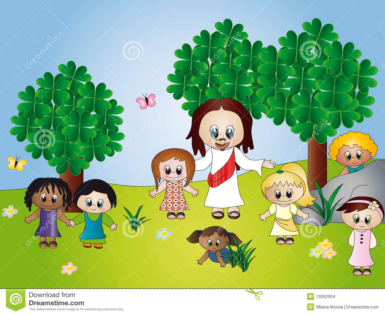Jesus With Children Stock Images - Image: 13262904