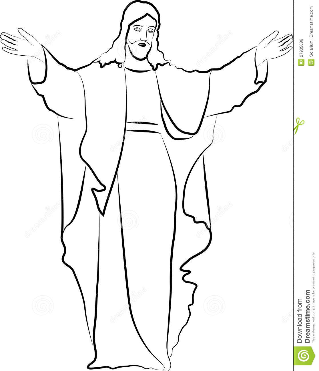 Jesus Christ Stock Vector. Image Of Blessings, Catholic