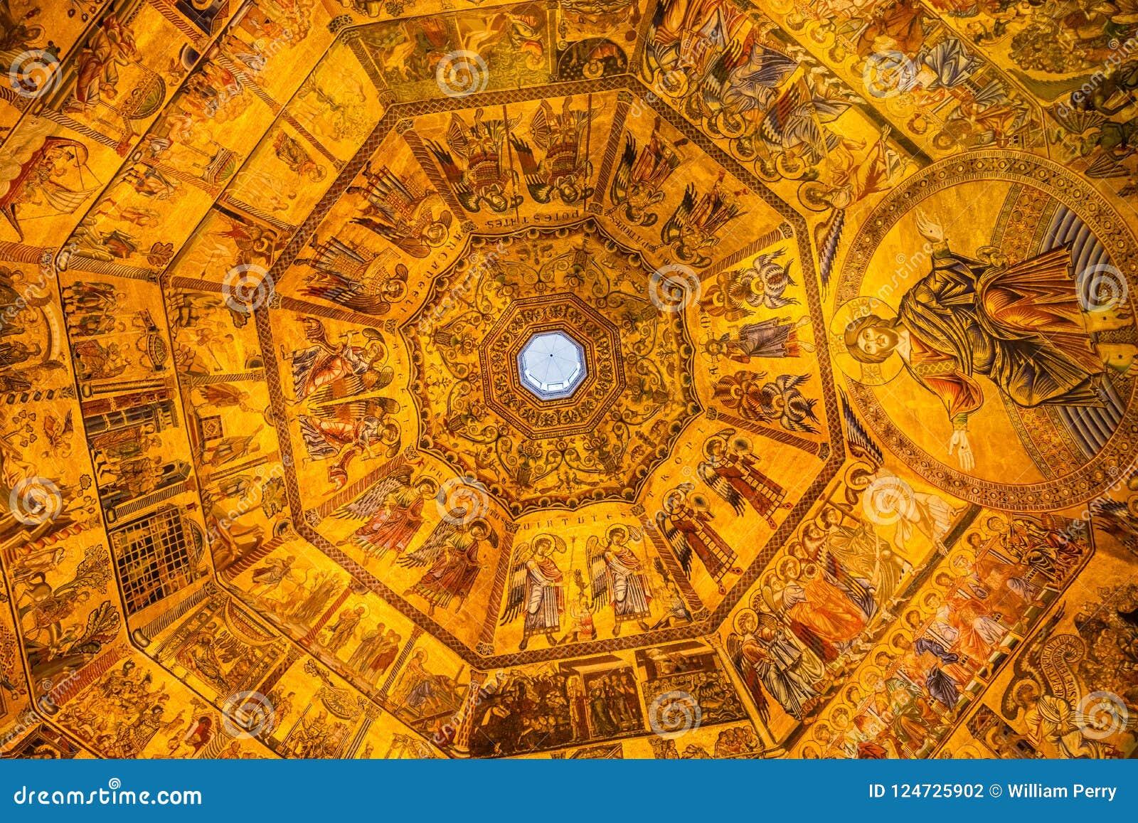 Jesus Christ Angels Mosaic Dome Bapistry Heilige John Florence Ita