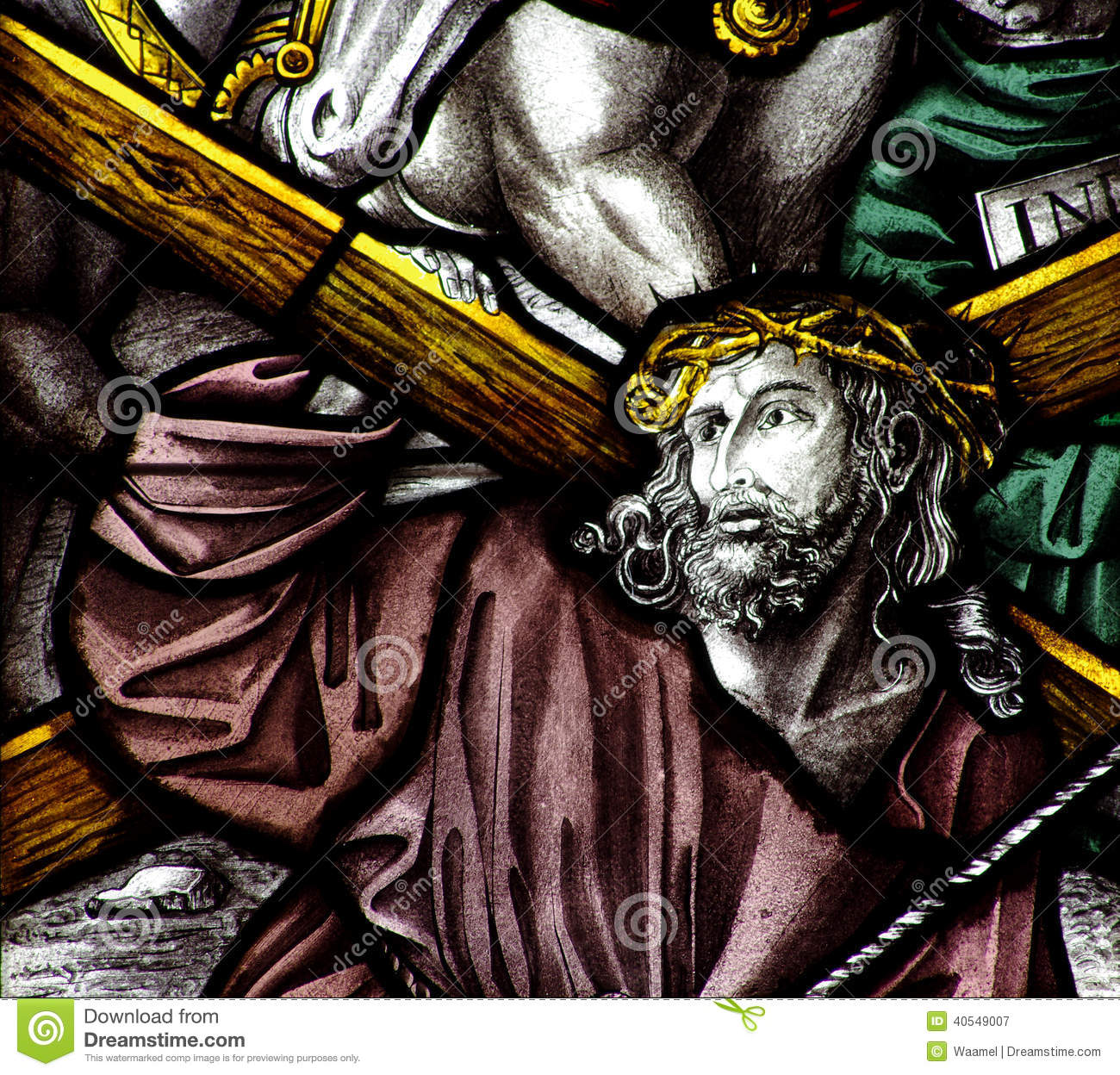 jesus christ carrying the cross stock photo image 40549007