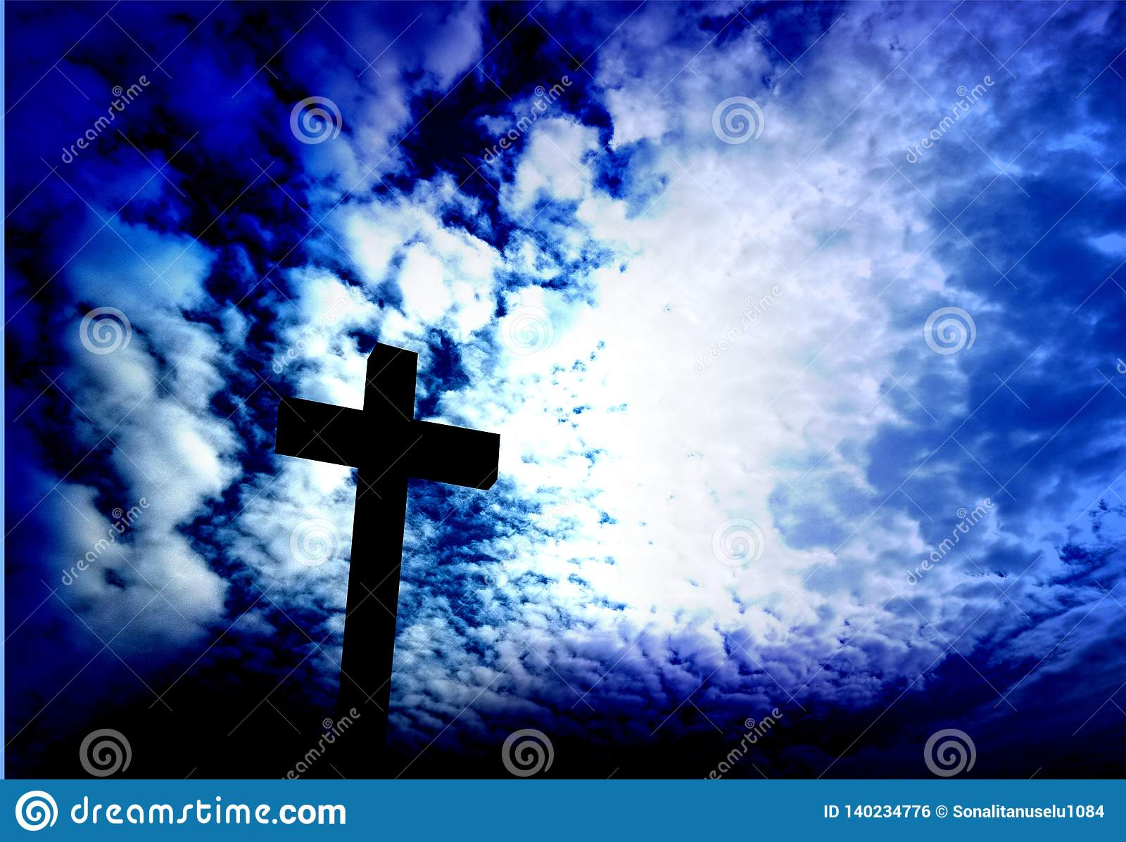 Jesus Christ Cross Background Wallpaper Stock Photo Image Of Belief Faith 140234776