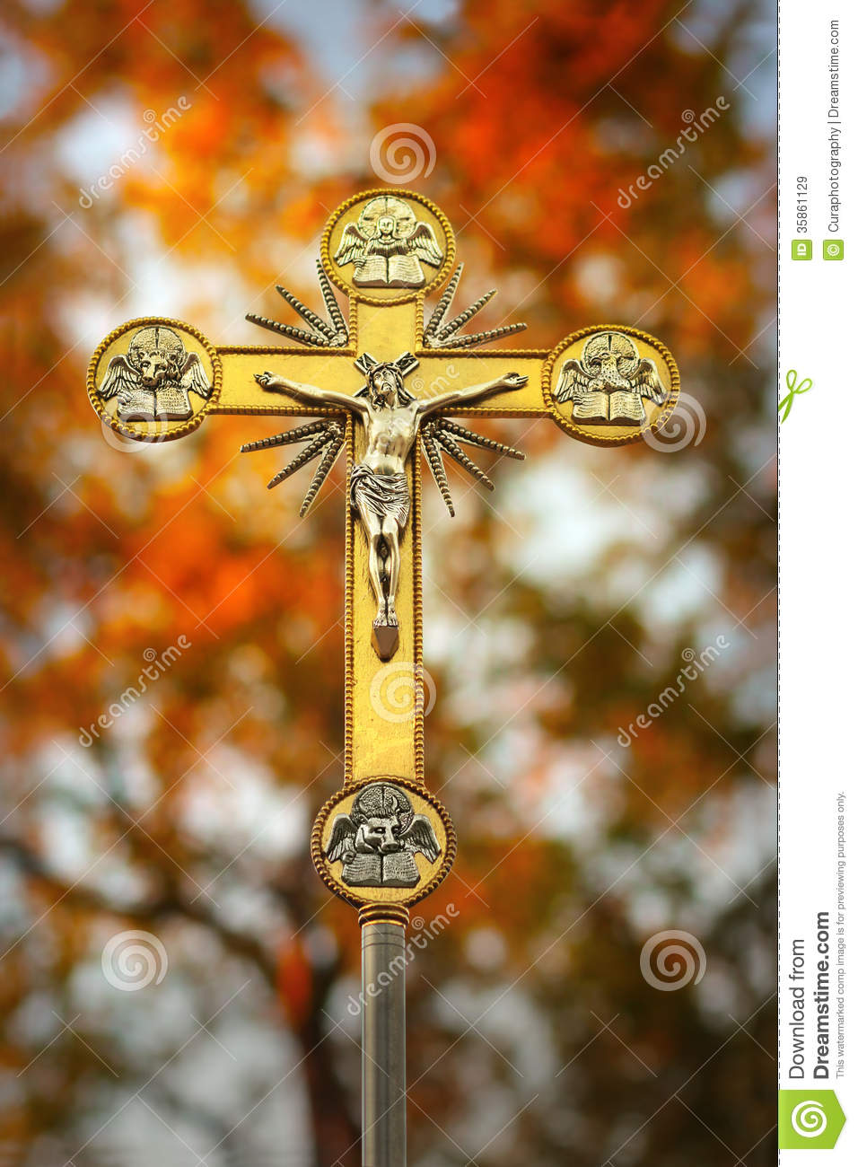Jesus Christ On Cross Stock Image Image Of Christmas 35861129
