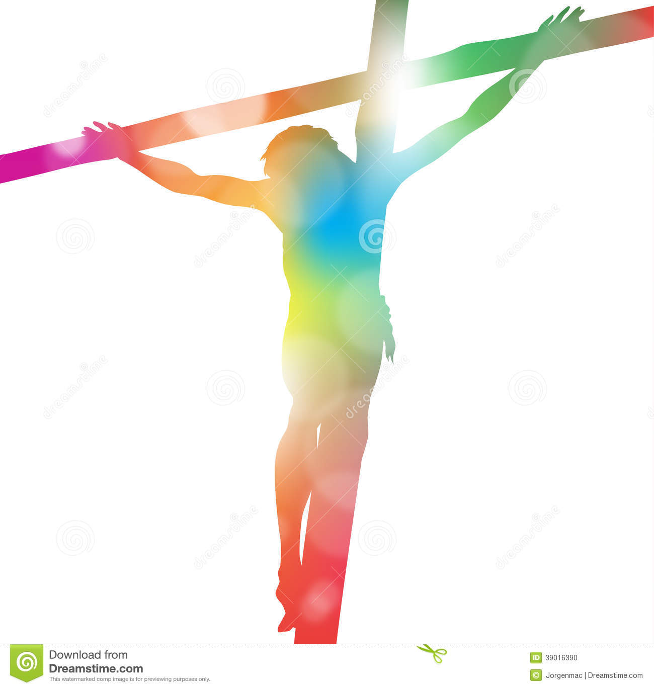 Jesus Christ On Cross In Colourful Abstract. Stock Vector