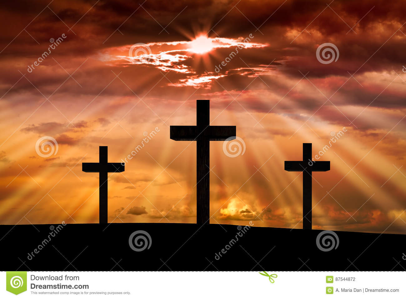 jesus christ cross easter good friday concept stock photo image