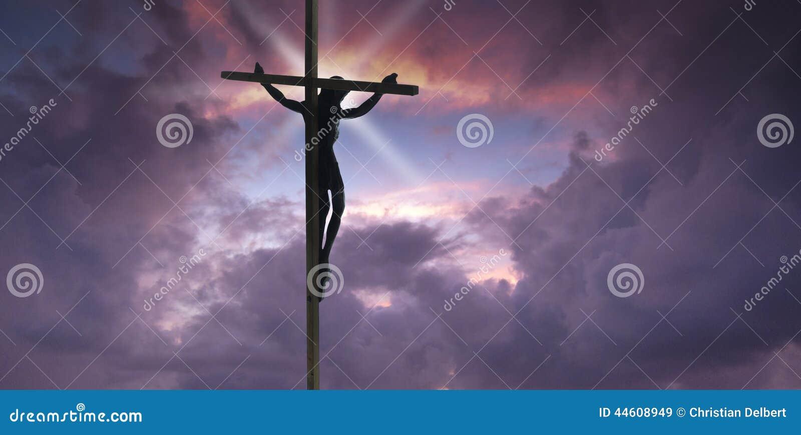 Download Jesus Christ on the Cross stock image. Image of prayer - 44608949