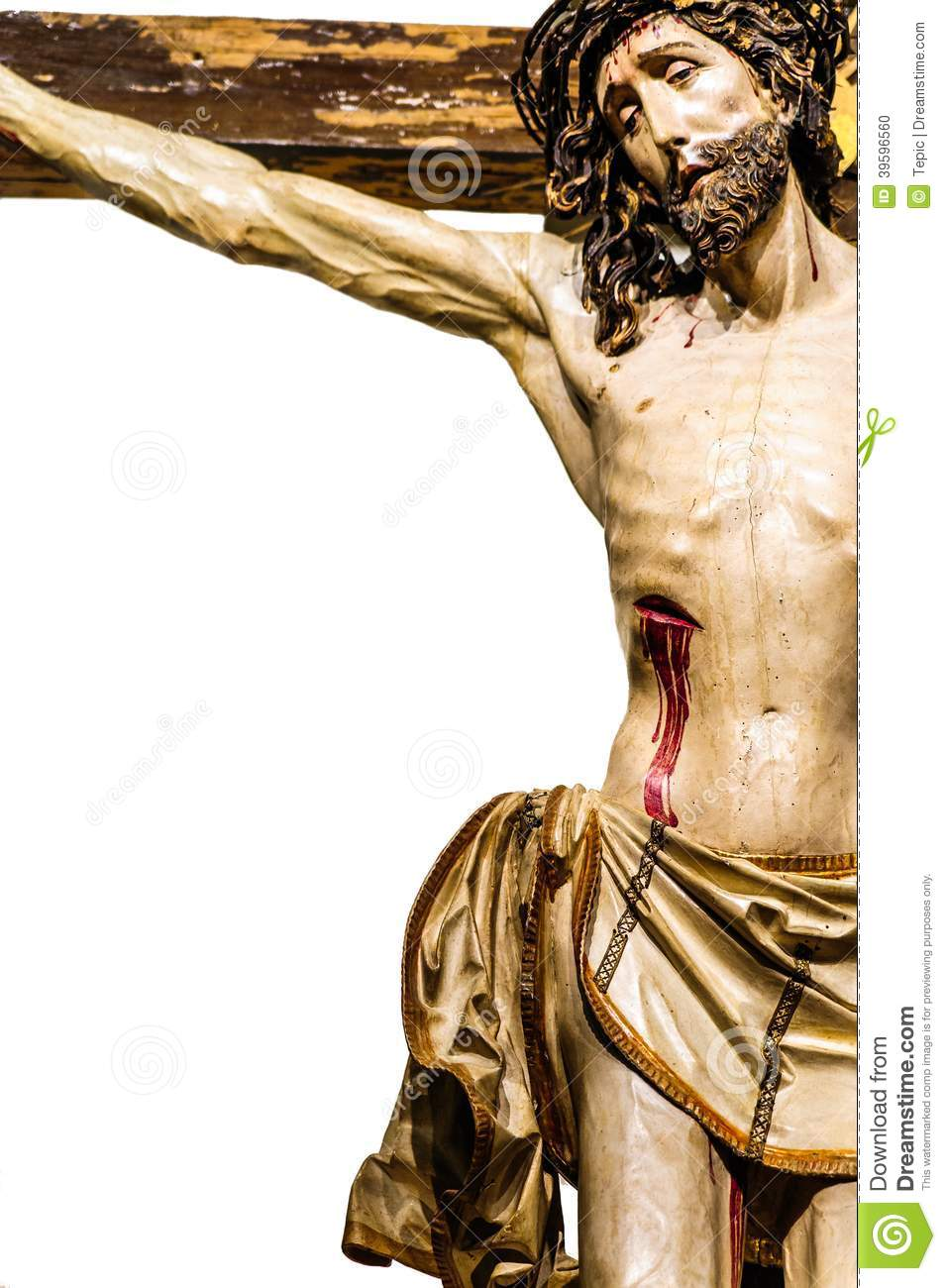 jesus christ on the cross stock photo image 39596560