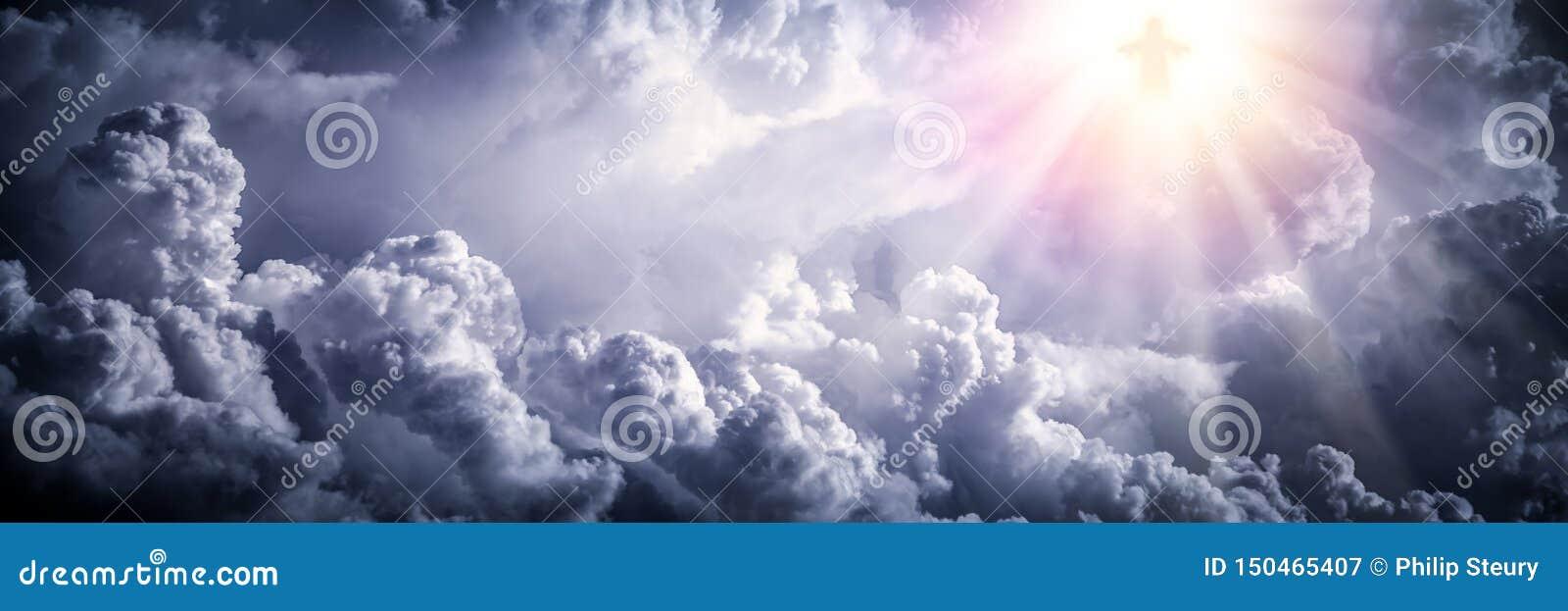 Jesus Christ in den Wolken