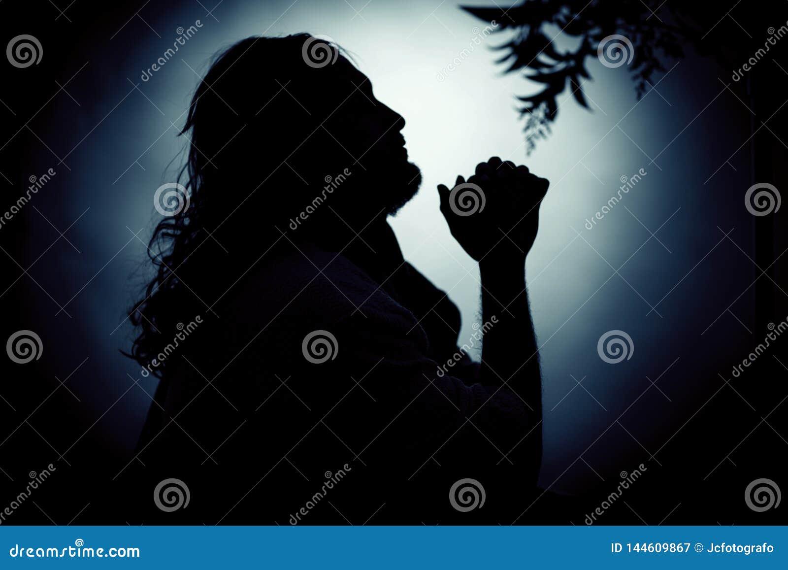 Jesus Christ, der nachts betet