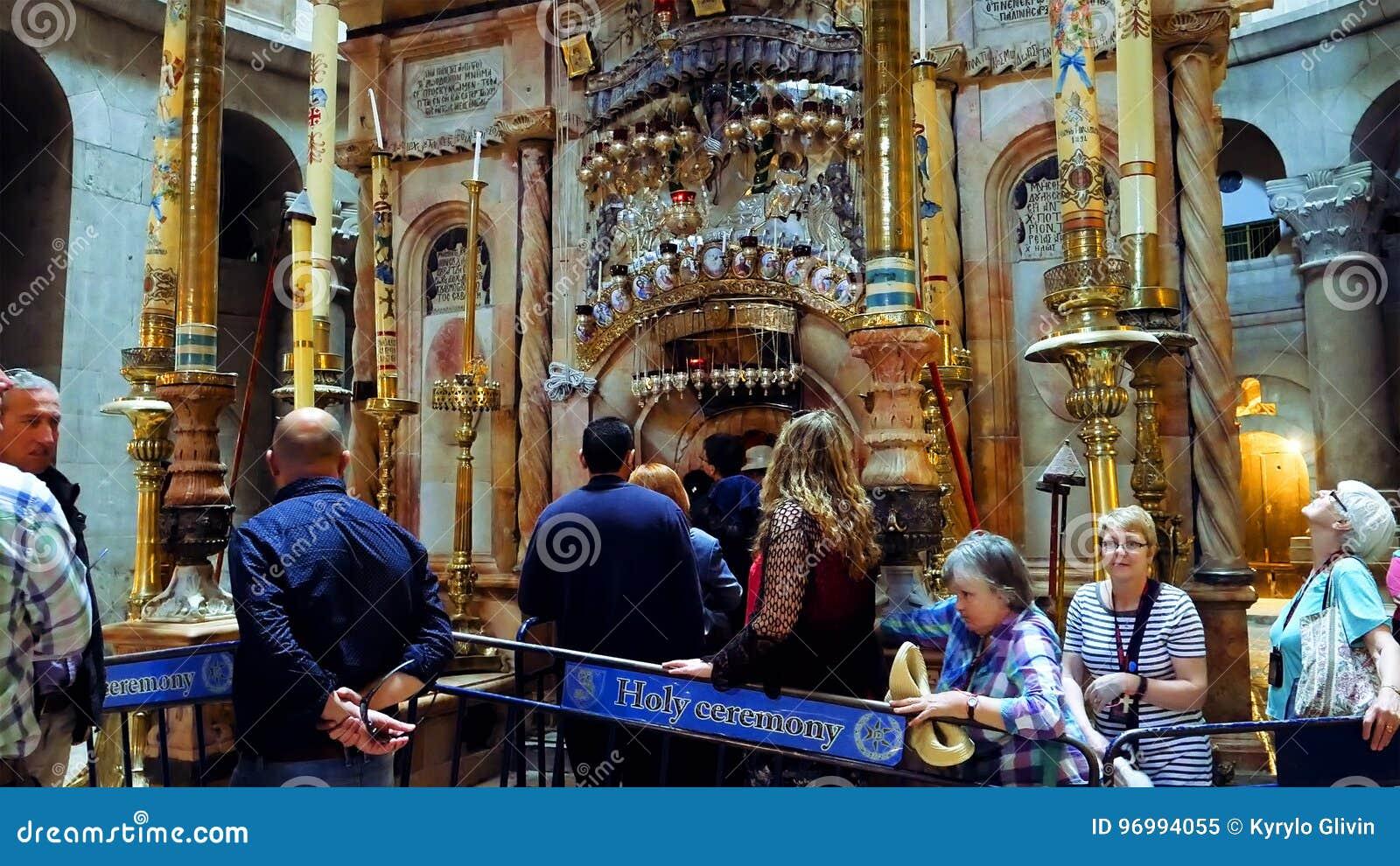 Jesus Christ Empty Tomb in Jerusalem