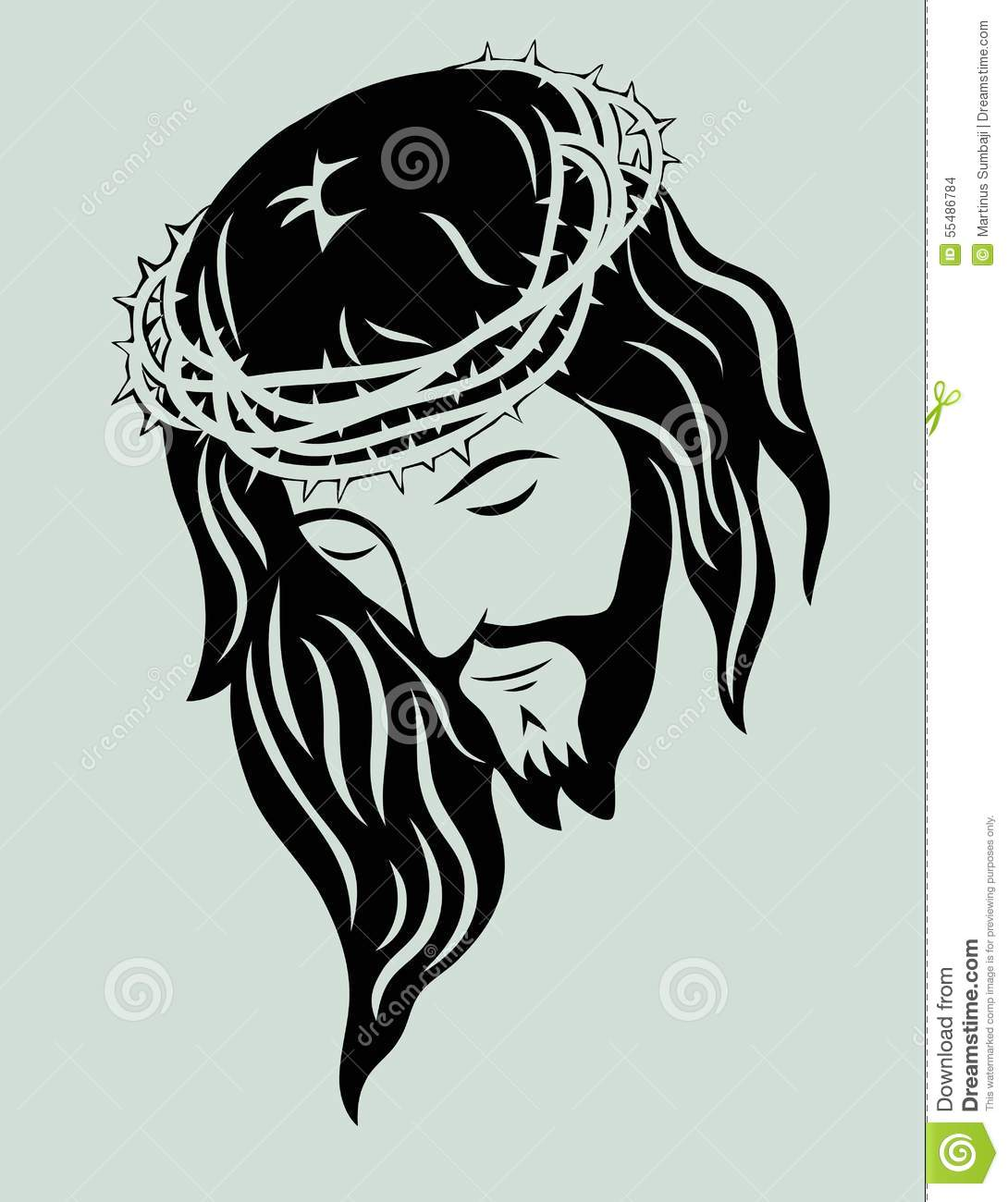 Jesus Christ Face Stock Vector - Image: 55486784