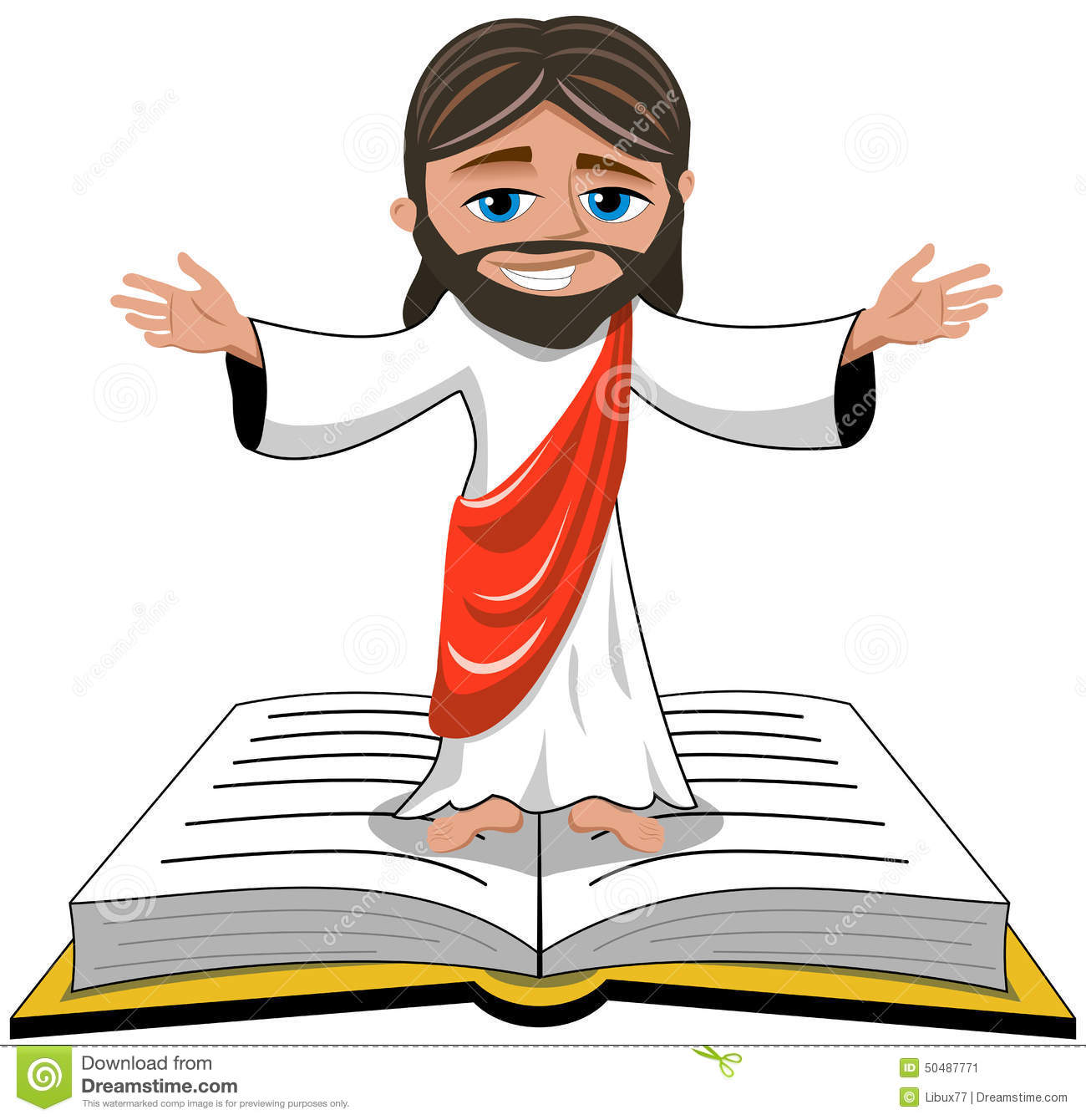 Jesus Christ Face Cartoon Icon Stock Vector - Image: 66681870