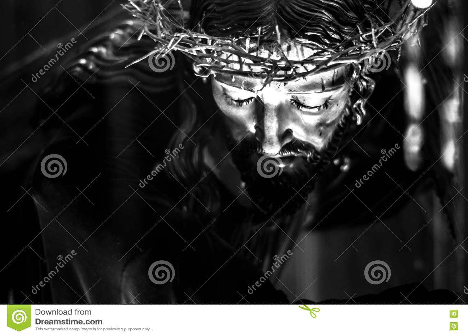 Jesus Christ preto e branco