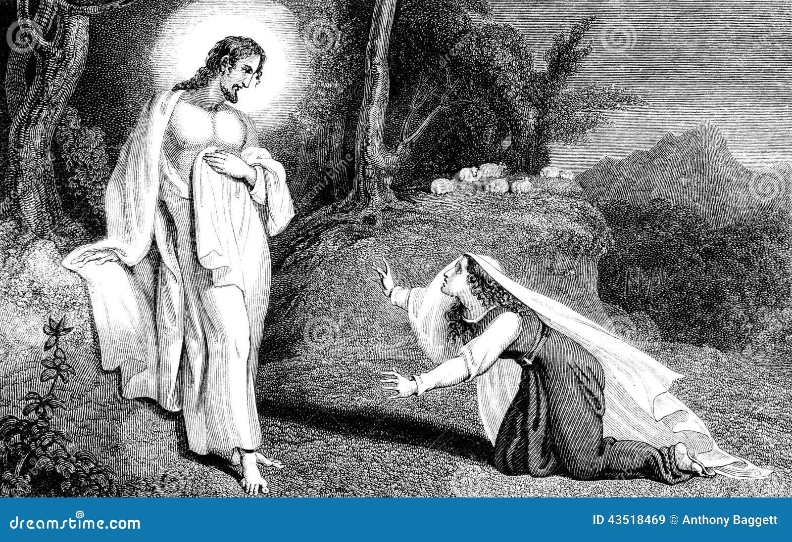 Jesus Christ que aparece a Mary Magdalene