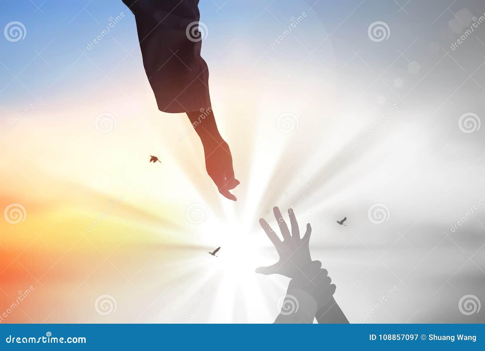 Jesus Christ salvar as mãos humanas