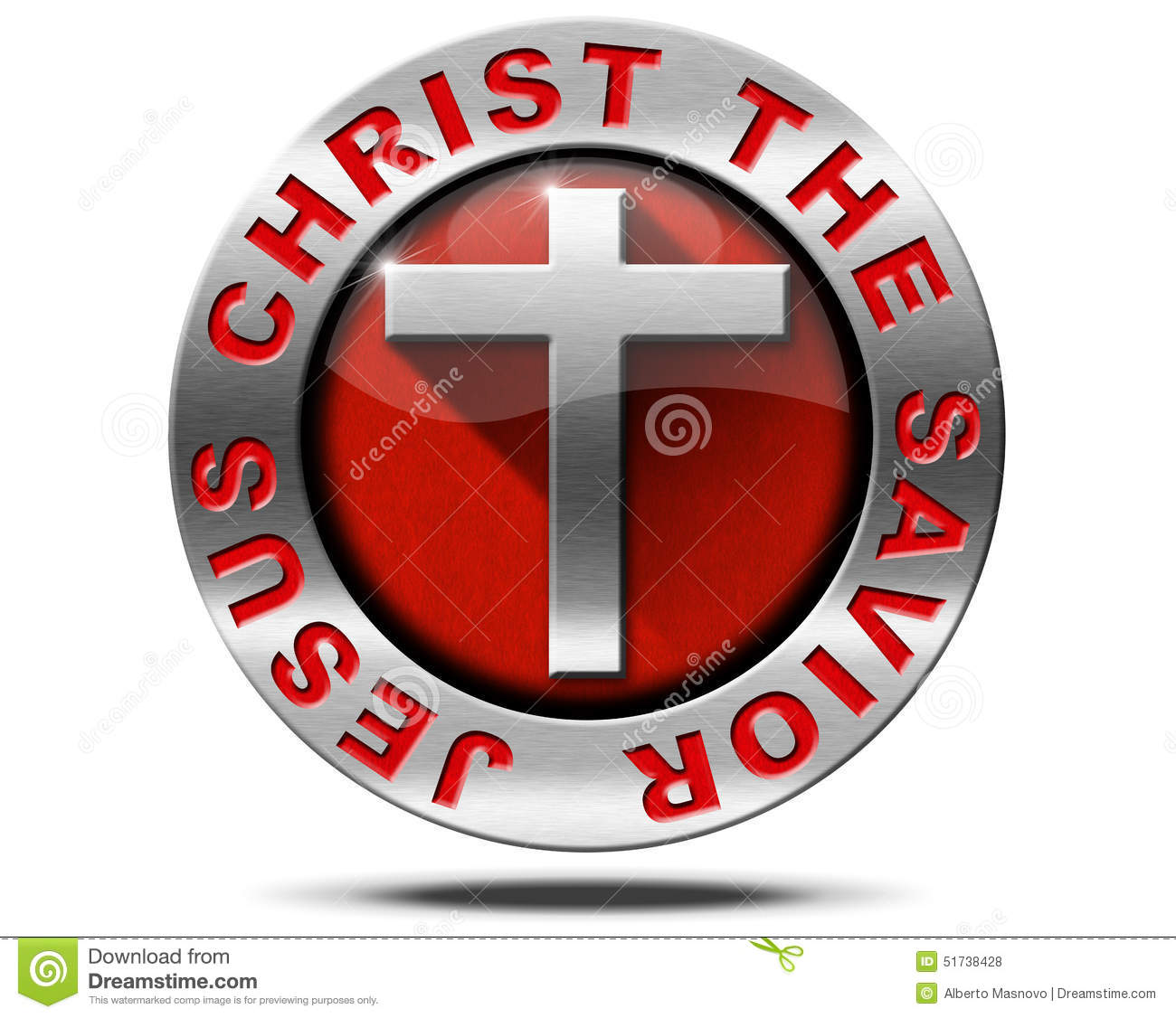 Jesus christ the savior metal symbol stock illustration jesus christ the savior metal symbol biocorpaavc Image collections