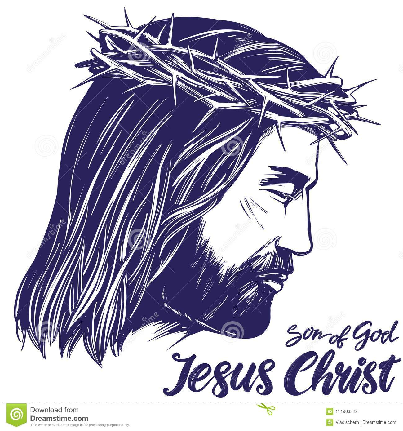 Jesus christ the son of god symbol of christianity hand drawn jesus christ the son of god symbol of christianity hand drawn vector illustration sketch buycottarizona Image collections