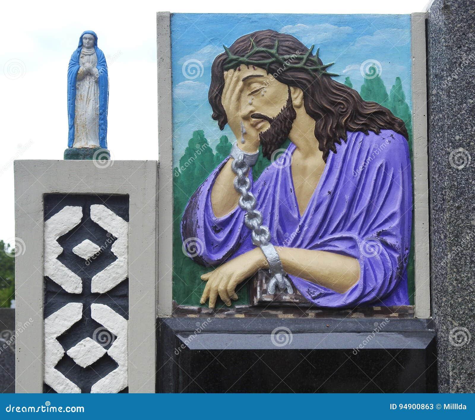Jesus Christ und wenig Statue, Litauen