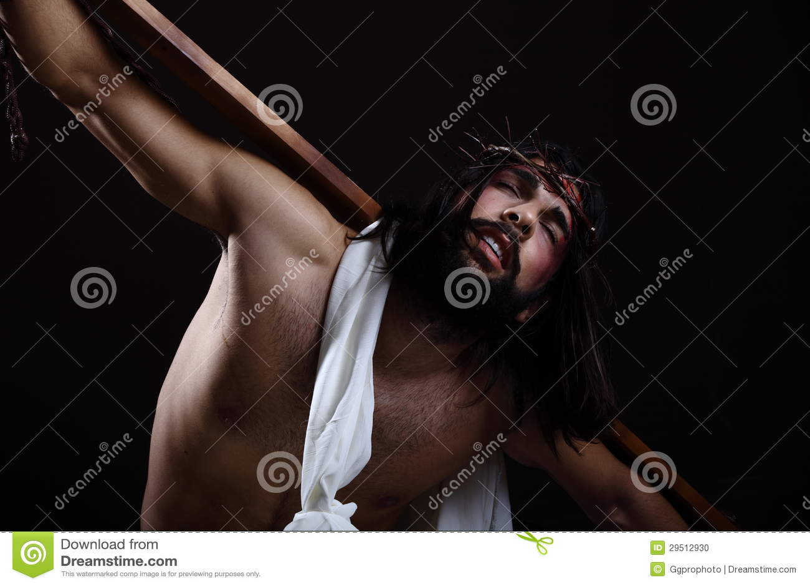 Jesus-Christus die de kroon van doornen dragen