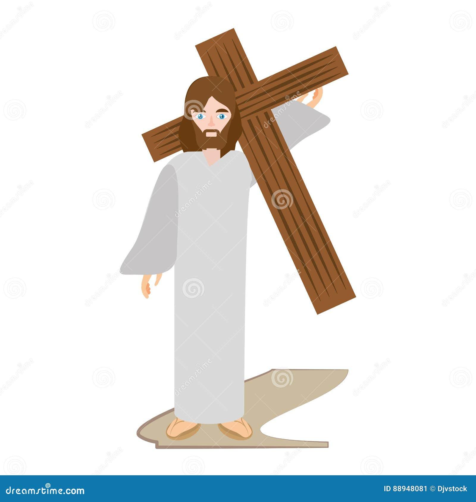 Jesus-Christus draagt kruis via crucis