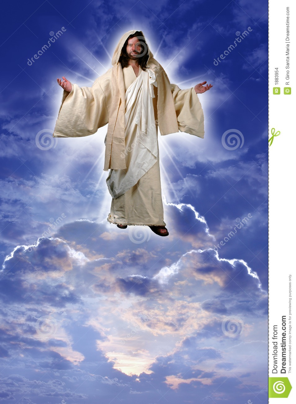 Jesus on a Cloud stock photo. Image of holy, eternal, male - 1883954